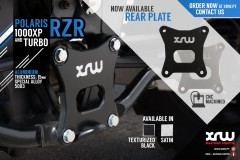 PLACA TRASEIRA POLARIS RZR 1000XP E TURBO